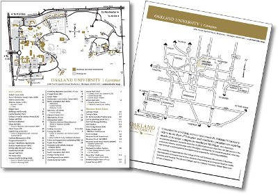 Oakland Community College Farmington Hills Campus Map.Printer Friendly Map