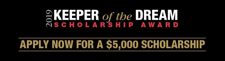 Apply now for a 5,000 scholarship from Keeper of the Dream