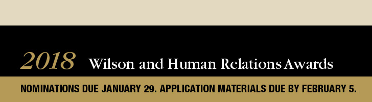Apply for the 2018 Wilson and Human Relations Awards