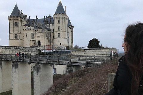OU student explores Angers, France during Winter 2018 study abroad.