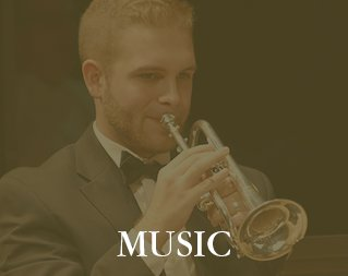Music Performance Schedule - Image of man playing trumpet