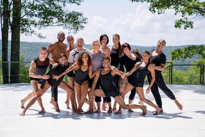 Met Dance Company at Jacob's Pillow, standing outdoors with trees in the background