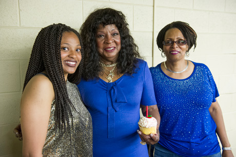 Martha Reeves with birthday cupcake
