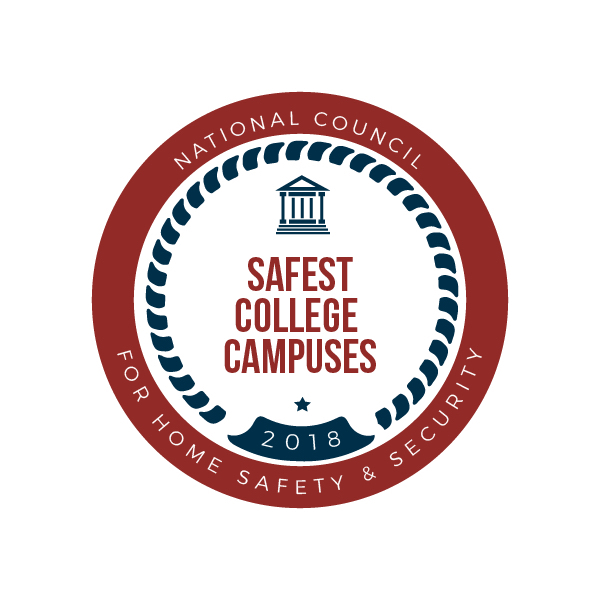 2018 safest campus graphic