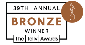 Bronze Telly Award graphic