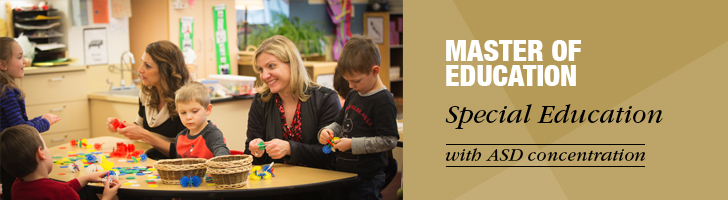 M.Ed. in Special Education with ASD Concentration Banner
