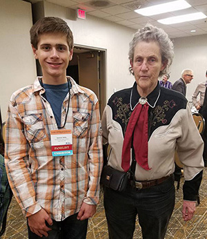 Spencer Kelly and Temple Grandin