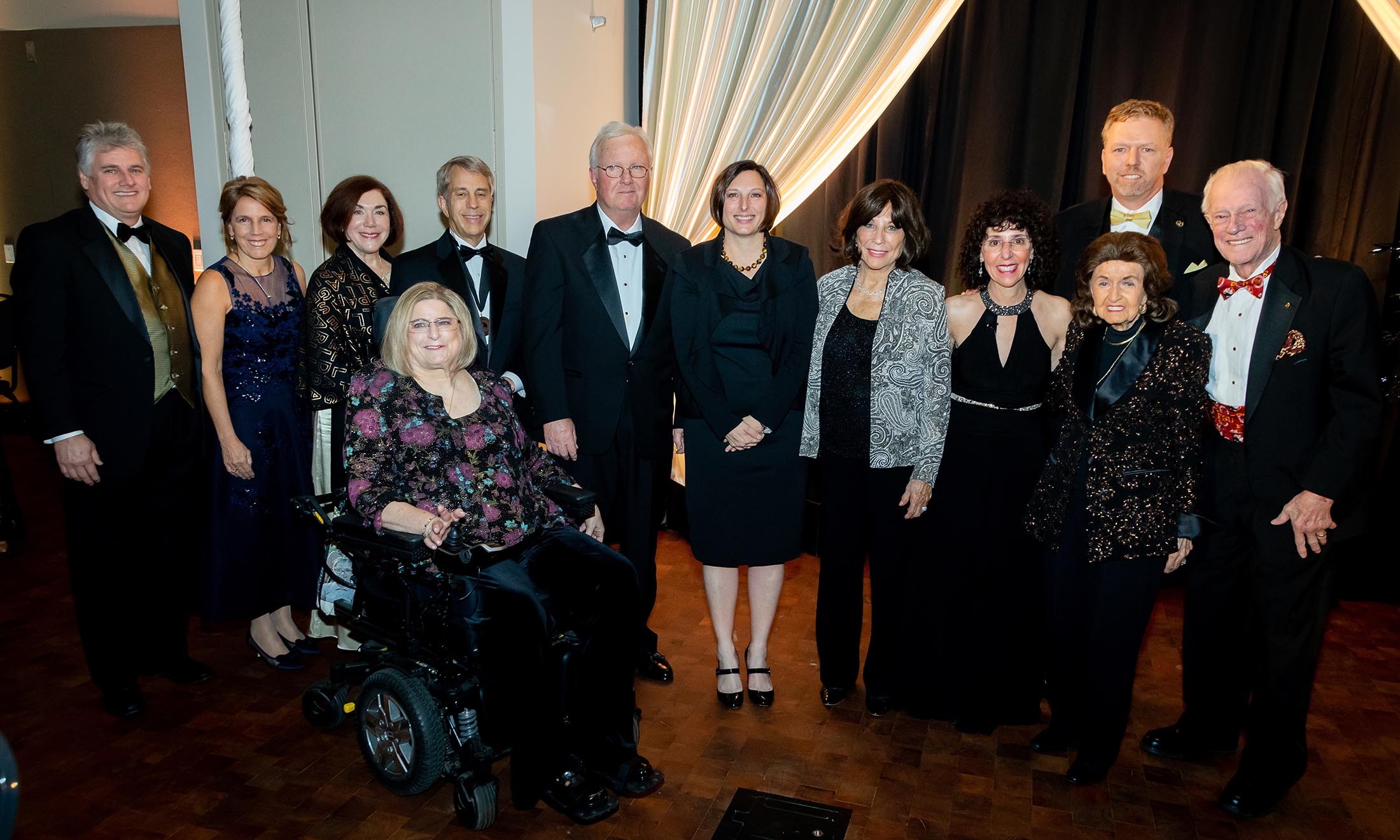 Group photo of steering committee at gala event