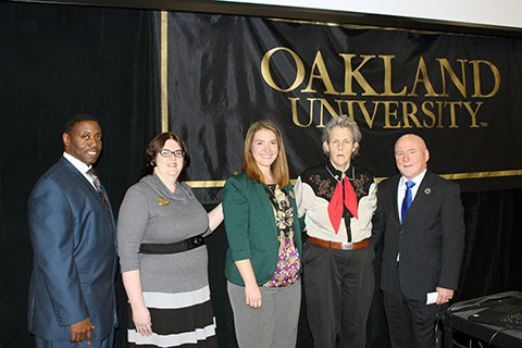 Temple Grandin and OU leaders