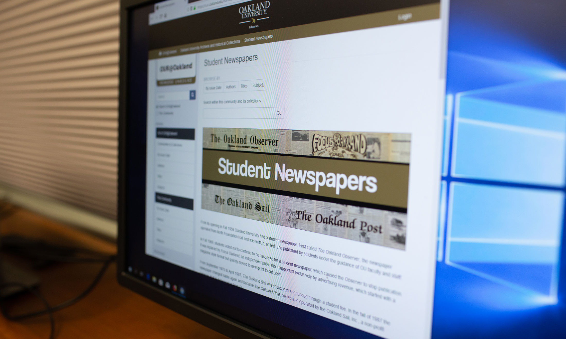 Student Newspaper Digital Archives Homepage
