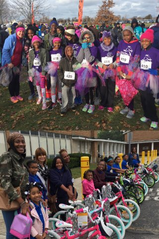 Dove Academy health and fitness programs girls on the run event