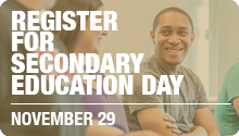 Secondary Education Day Registration Web Graphic
