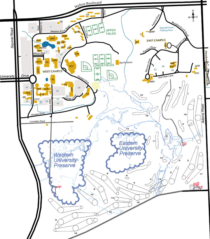 Oakland Community College Farmington Hills Campus Map.Oakland University Campus Map 2020 New Upcoming Car Reviews