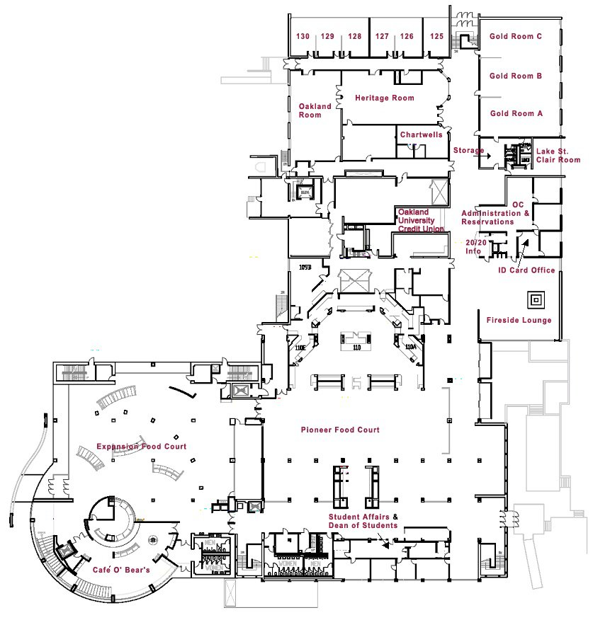 Meeting and event spaces for Vice president house floor plan