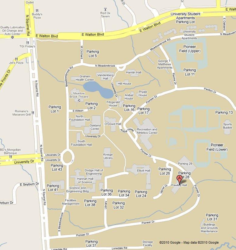 Oakland University Campus Map >> Campus Map